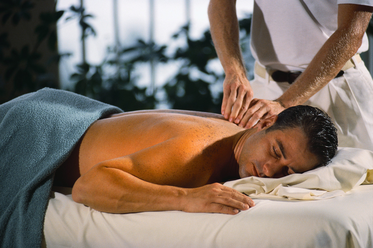 Getting a Massage ca. 1990s