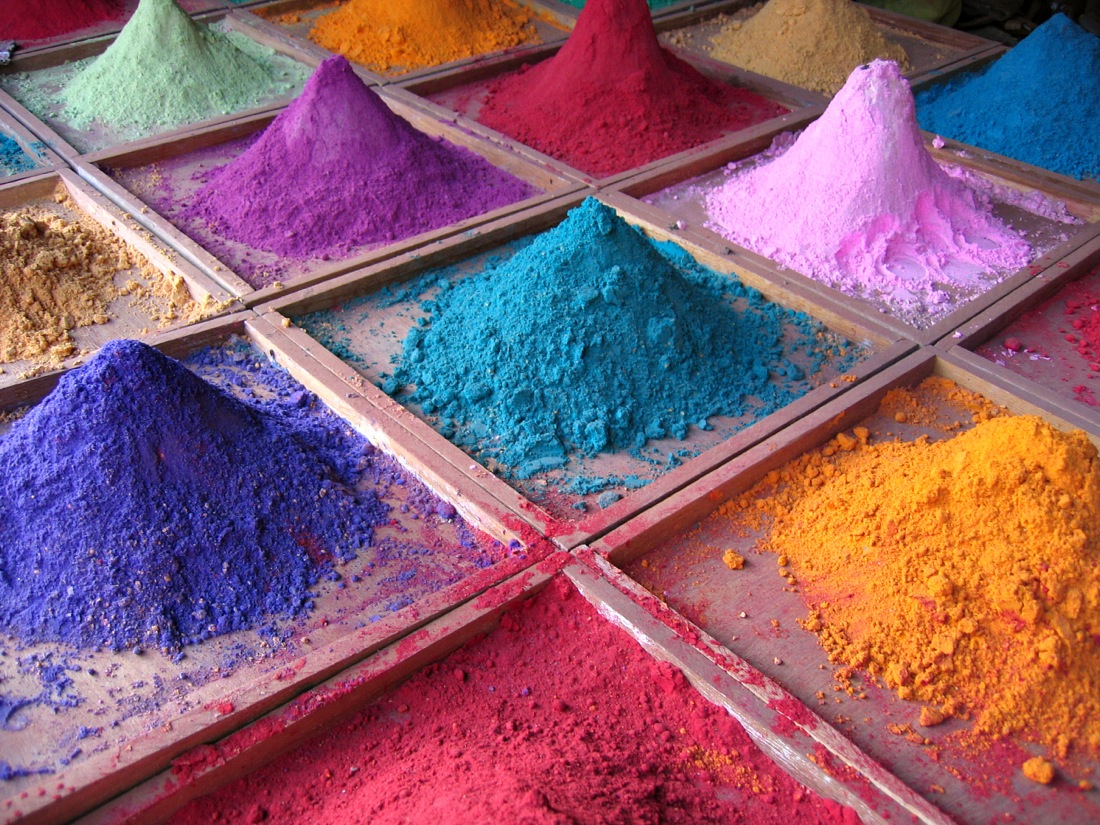 Pigments in India, on market stall Please let me know if you use this photo. If you like it please give it a rating or leave a comment - Thank you!